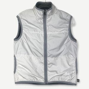 Nike ACG High Mock Neck White Sherpa Fleece Vest M